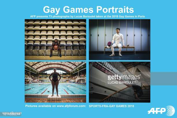AFP presents a package of 73 photographs capturing the Gay Games 2018 a global cultural and sporting event which are being are held in Paris for the...