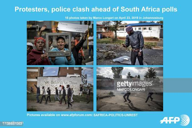 AFP presents a photo essay by photographer Marco Longari featuring 16 photographs of a protest against the lack of service delivery or basic...