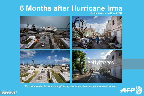 Presents a photo essay made in 2017 and 2018 following the passing of Hurricane Irma in the French oversea island of Saint-Martin. / AFP PHOTO / STF