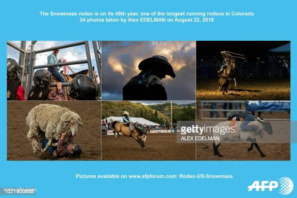 AFP presents a photo essay of 24 images by photographer Alex EDELMAN on the Snowmass Rodeo in Snowmass Colorado