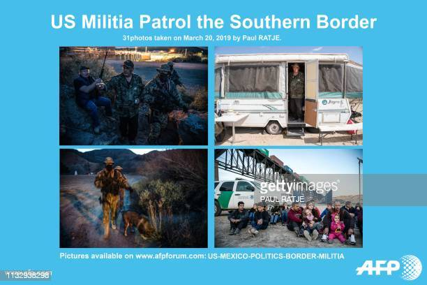 AFP presents a photo essay of 31 images by photographer Paul Ratje on Constitutional Patriots New Mexico Border Ops militia Team at the USMexico...