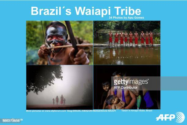 AFP presents a photo essay of 34 images by photographer Apu Gomes on Brazil´s Waiapi tribe at the Waiapi indigenous reserve in Amapa state in Brazil...