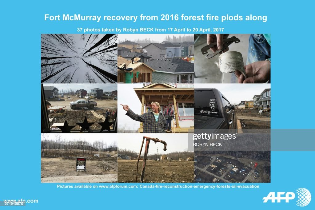 CANADA-FIRE-RECONSTRUCTION-EMERGENCY-FORESTS-OIL-EVACUATION-TOPS : News Photo
