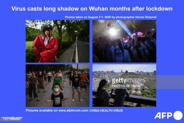 Presents a photo essay of images by photographer Hector Retamal taken between August 3 and 7, 2020 showing life slowly returning to normal following...
