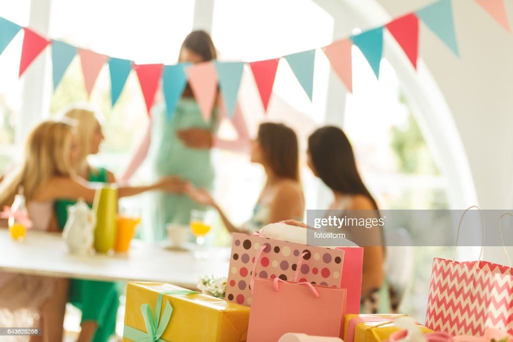 Presents At Baby Shower Party