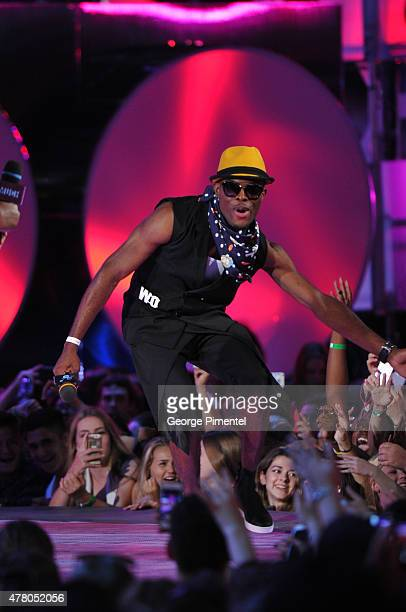 OMI presents at the 2015 Much Music Video Awards at MuchMusic HQ on June 21 2015 in Toronto Canada