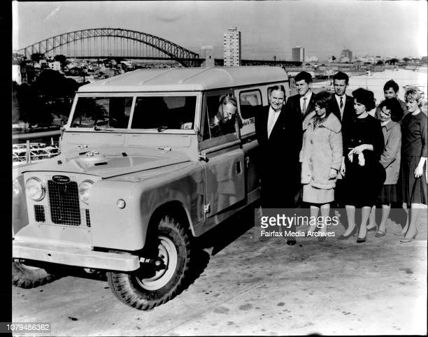 Presents Landrover To Outward Bound Movement.The N.S.W. Manager of BP Australia, Mr. D. F. Pearse hands over a £1,400 Landrover to Judge Adrian...