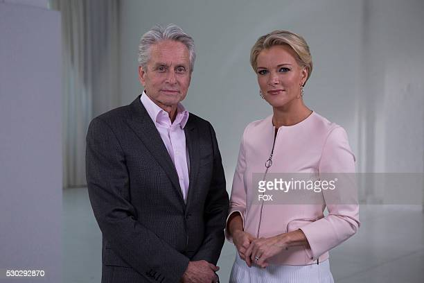 Megyn Kelly and Michael Douglas during the FOX Special MEGYN KELLY presents airing Tuesday May 17 on FOX
