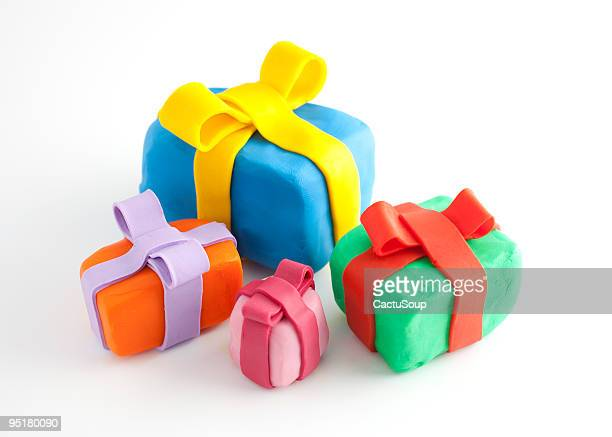presents - clay stock pictures, royalty-free photos & images