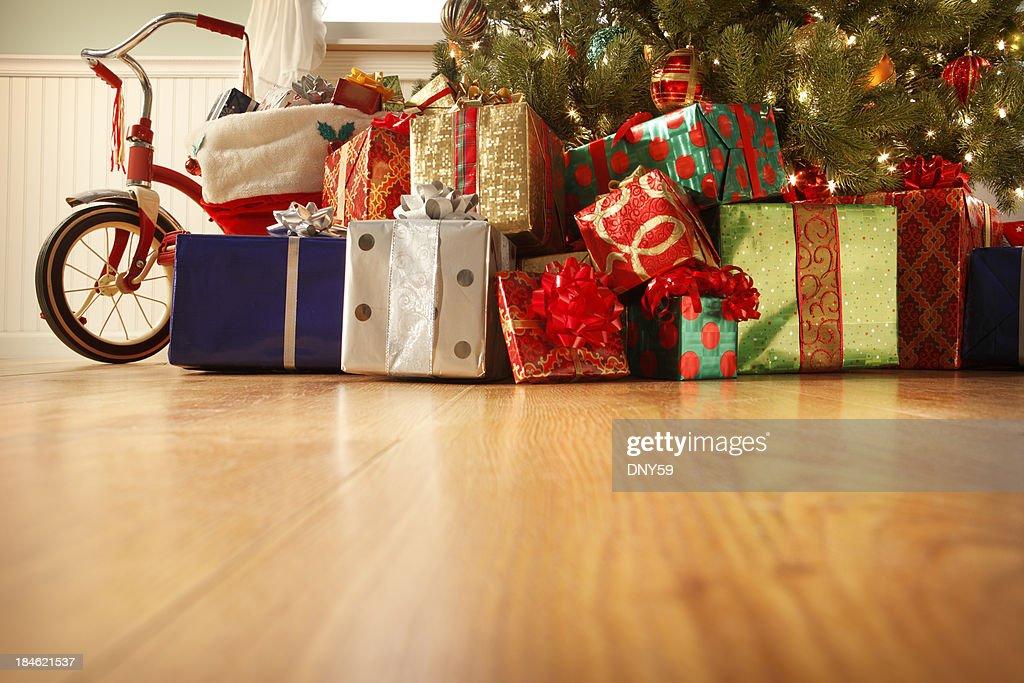 Presents Under the Christmas Tree : Stock Photo