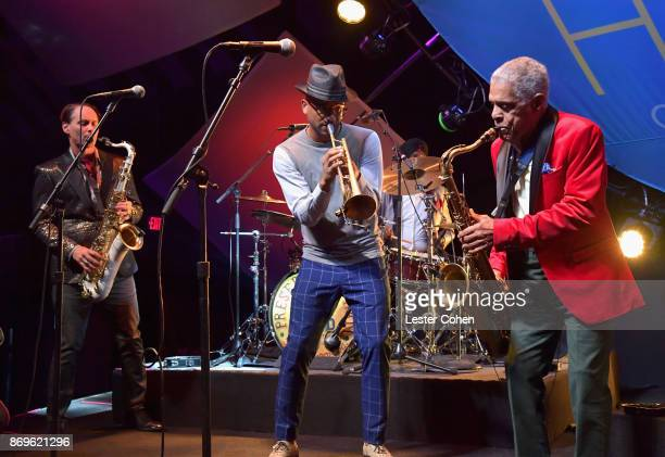 Preservation Hall Jazz Band performs at MFEI Spirit Of Life Honoring Coran Capshaw on November 2 2017 in Santa Monica California