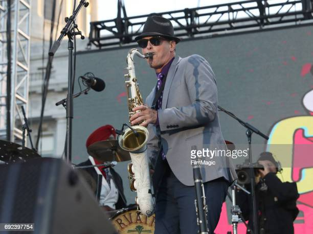 Preservation Hall Jazz Band performs onstage at the Piazza Del Cluster Stage during Colossal Clusterfest at Civic Center Plaza and The Bill Graham...