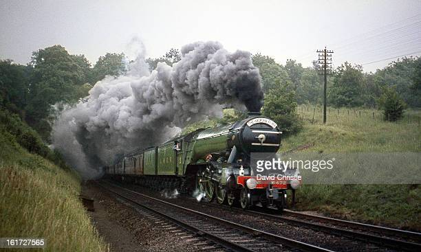 CONTENT] Preserved LNER liveried 4472 Flying Scotsman on the Hadrian Flyer at Welwyn North tunnel 17/6/67 In those days she ran with two tenders