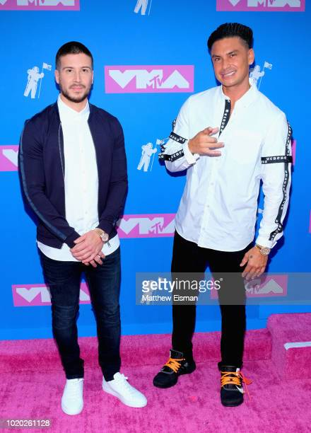 Pre-show hosts Vinny Guadagnino and Pauly D attend the 2018 MTV Video Music Awards at Radio City Music Hall on August 20, 2018 in New York City.