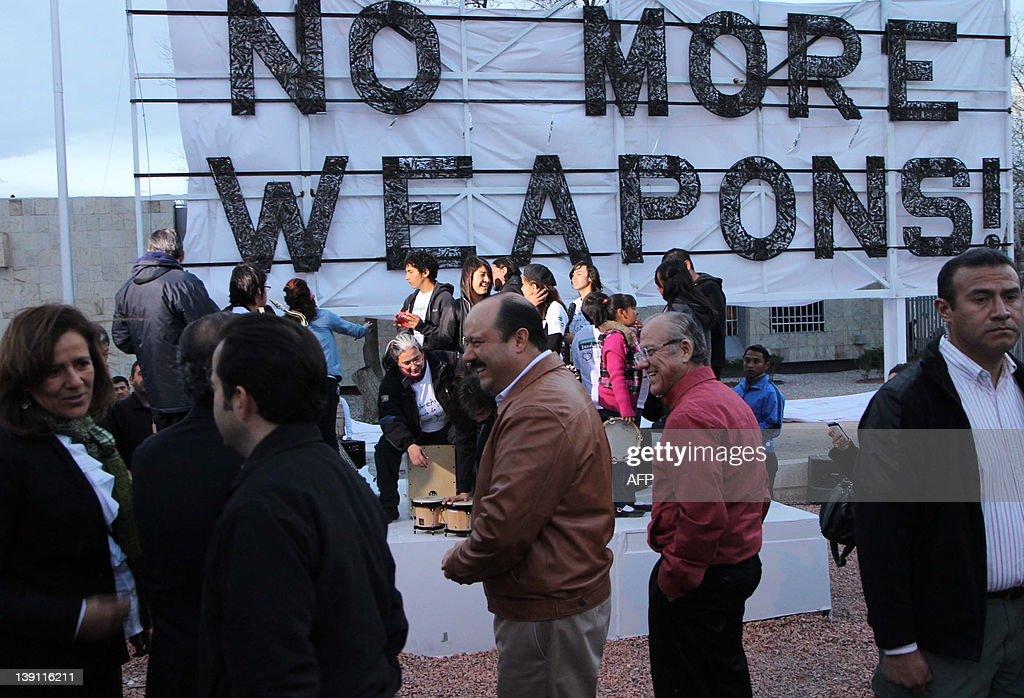 Presiden of Mexico Felipe Calderón inaug : News Photo