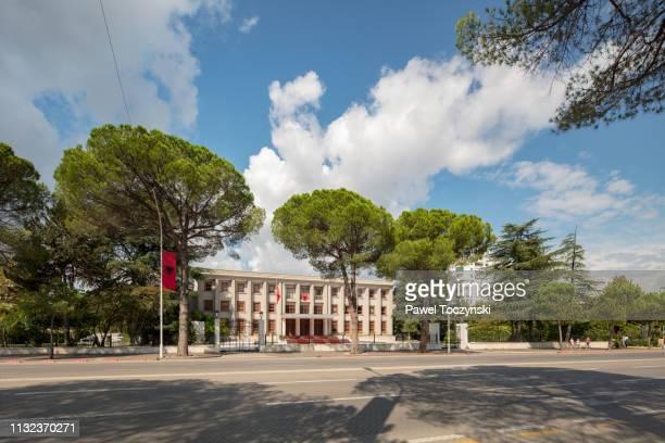 presidenca e republikës government house in tirana, albania, 2018 - nobel prize stock pictures, royalty-free photos & images