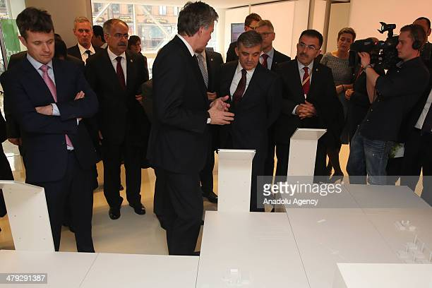 President Abdullah Gul and Crown Prince Frederik of Denmark are informed about programmes of Denmark about green energy on the opening sitting of...