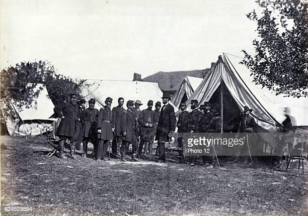 President Abraham Lincoln 1862 BattleField of Antietam Alexander Gardner