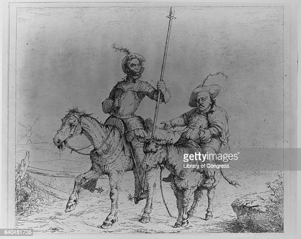 President Abraham Lincoln and General Benjamin F Butler as Don Quiote and Pancho by Adalbert John Volck