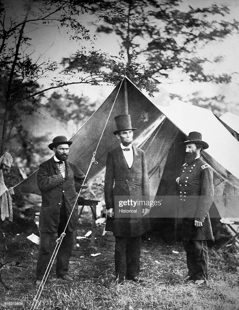 President Abraham Lincoln Meets With Major Allan Pinkerton