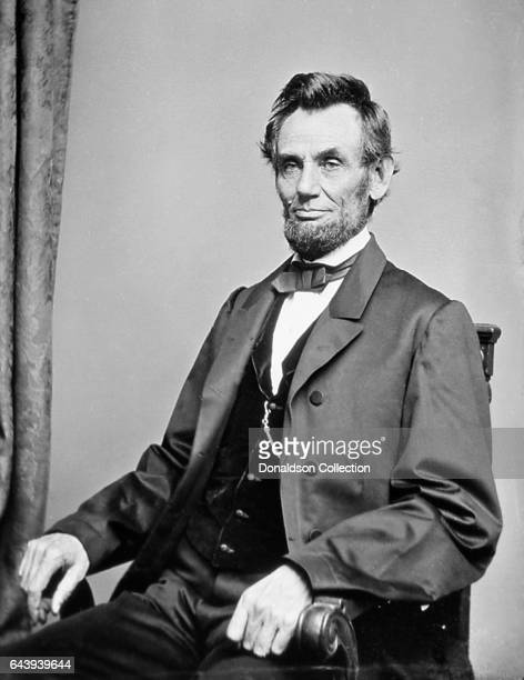 President Abraham Lincoln sits for a portrait in circa 1863
