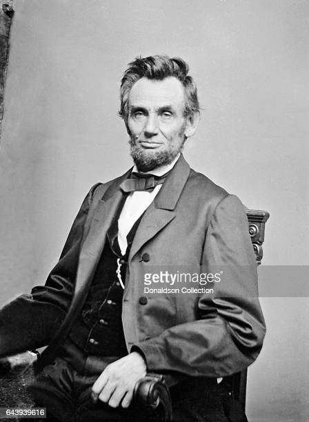 President Abraham Lincoln sits for a portrait in circa 1865