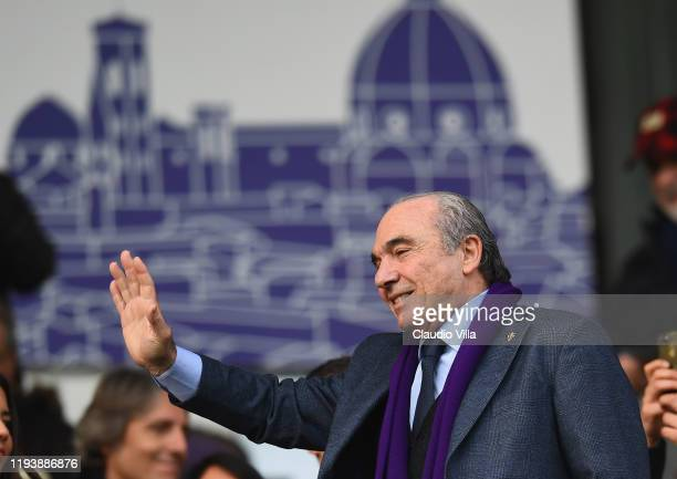President ACF Fiorentina Rocco Commisso reacts during Serie A match between ACF Fiorentina and Atalanta at Stadio Artemio Franchi on January 15 2020...