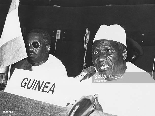 President Ahmed Sekou Toure of Guinea attending a conference
