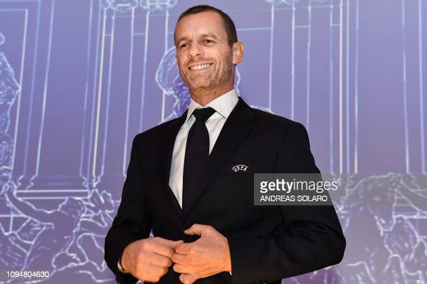 President Aleksander Ceferin attends the 43rd Ordinary UEFA Congress on February 7, 2019 in Rome.