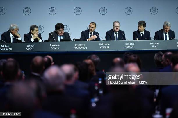 President Aleksander Ceferin during the 44th Ordinary UEFA Congress on March 03, 2020 in Amsterdam, Netherlands.