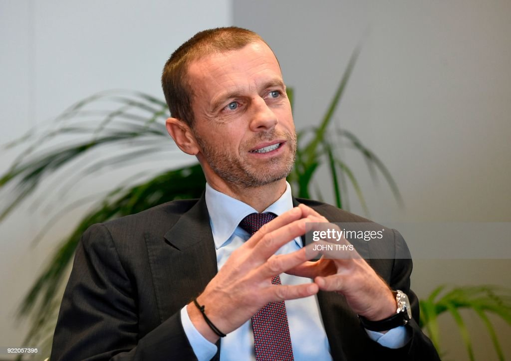 BELGIUM-EU-UEFA-COOPERATION : News Photo