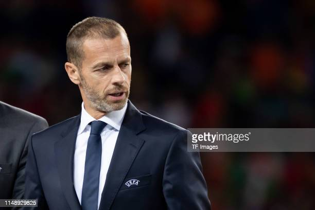 President Aleksander Ceferin looks on prior to the UEFA Nations League Final between Portugal and the Netherlands at Estadio do Dragao on June 9 2019...