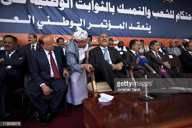 President Ali Abdullah Saleh before giving a speech to thousands of supporters on March 10 2011 in Sana Yemen Thousands of Yemenis have been...