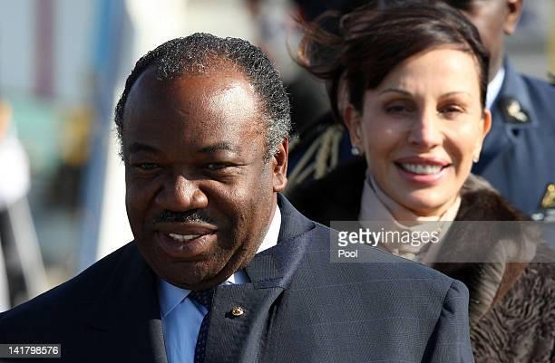 President Ali Bongo Ondimba of Gabon arrives with his wife Sylvia Bongo Ondimba at the Incheon International Airport on March 24 2012 in Incheon...
