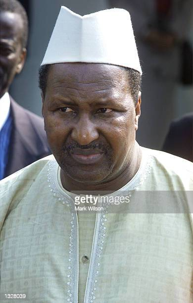 President Alpha Konare of Mali listens to questions from reporters June 28 2001 after meeting with US President George W Bush at the White House in...