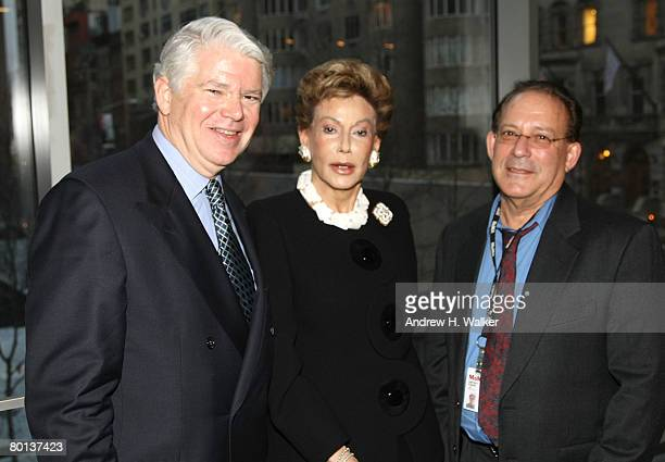 President AmericanScandinavian Foundation Ed Gallagher Lady Mercia Harrison MoMA film curator Larry Kardish attend MoMA's Rex Harrison A Centenary...