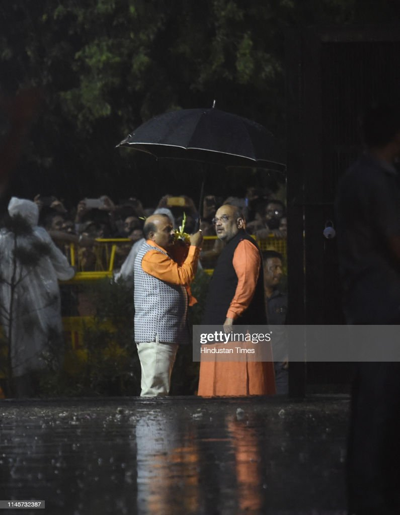 IND: Prime Minister Narendra Modi Arrives At Party Headquarter After Trends Show Historic Victory For NDA Coalition