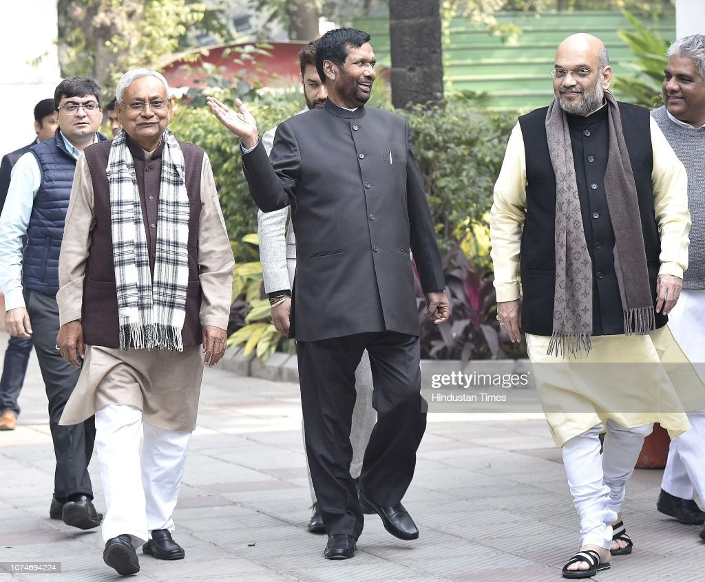 Bjp President Amit Shah With Bihar Chief Minister Nitish Kumar And Nyhetsfoto Getty Images