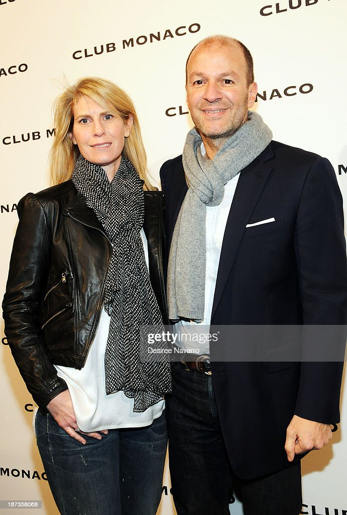 President and CEO at Club Monaco, John Mehas (R) attends the opening celebration of Club Monaco's Fifth Avenue Flagship at Club Monaco Fifth Avenue on November 7, 2013 in New York City.