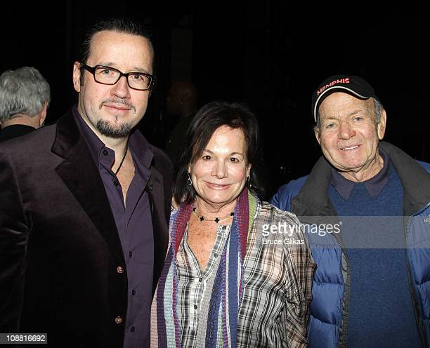 President and CEO Audemars Piquet North America FrancoisHenry Bennahmias Producers Barbara Freitag and Buddy Freitag pose at a special performance of...