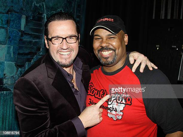 President and CEO Audemars Piquet North America FrancoisHenry Bennahmias and James Monroe Iglehart pose at a special performance of Memphis for...