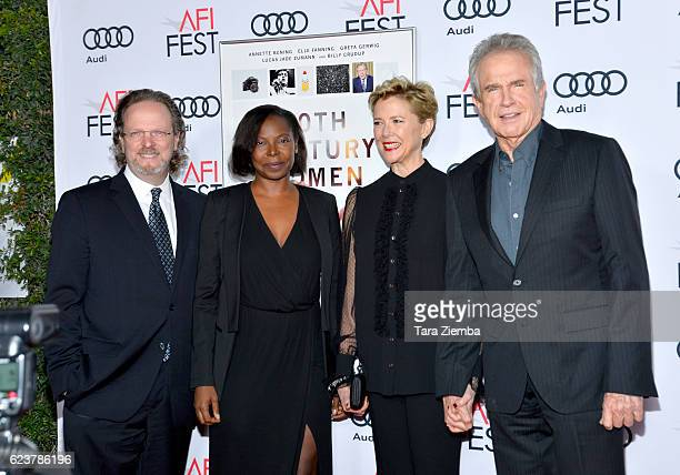 President and CEO Bob Gazzale AFI FEST Director Jacqueline Lyanga actress Annette Bening and actor Warren Beatty attend a tribute to Annette Bening...