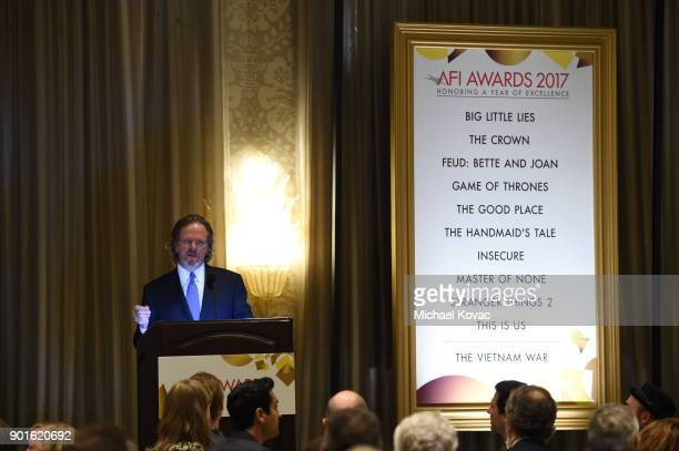 President and CEO Bob Gazzale speaks onstage during the 18th Annual AFI Awards at Four Seasons Hotel Los Angeles at Beverly Hills on January 5 2018...