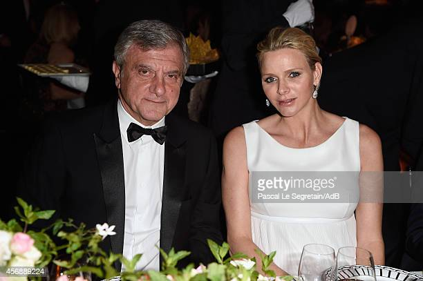 President and CEO, Christian Dior Couture Sidney Toledano and Her Serene Highness Princess Charlene of Monaco attend the 2014 Princess Grace Awards...