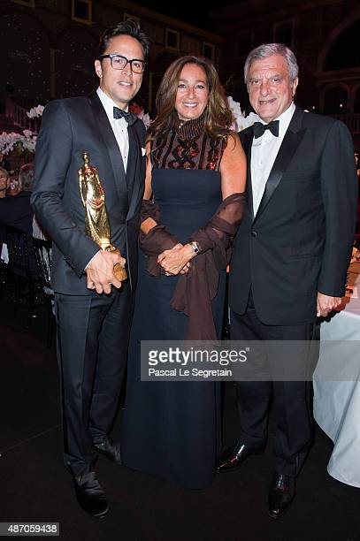 President and CEO Christian Dior Couture Sidney Toledano Katia Toledano and Princess Grace Statue Award Recipient Cary Fukunaga attend the 2015...