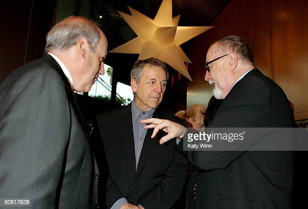 President and CEO Dan Glickman, Director Costa-Gavras and Director Gilbert Cates attend the opening night reception for the 9th Annual City of...