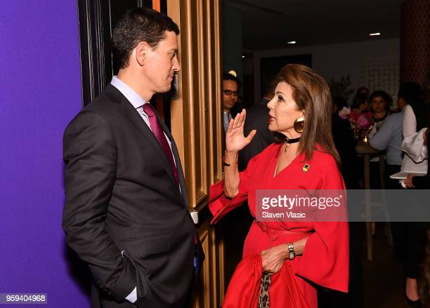 President and CEO David Miliband and executive producer HRH Princess Firyal of Jordan attend 'This is Home A Refugee Story' New York Premier...