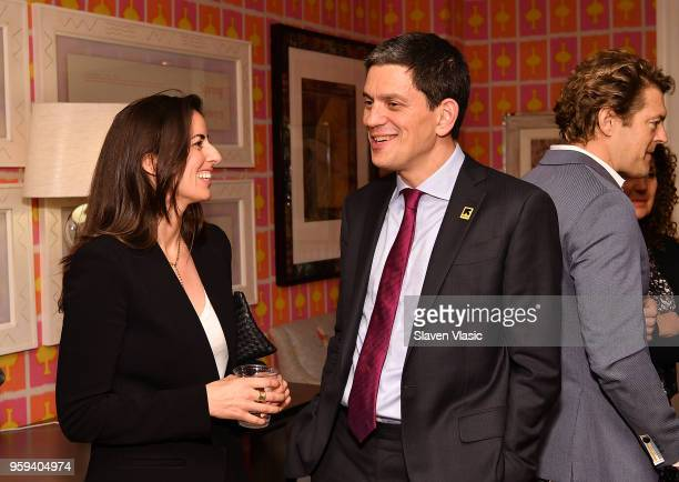 President and CEO David Miliband and guest attend 'This is Home A Refugee Story' New York Premier Screening at Crosby Street Hotel on May 16 2018 in...