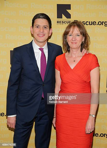 President and CEO David Miliband and Louise Shackelton attend the Annual Freedom Award Benefit Event hosted by International Rescue Committee on...