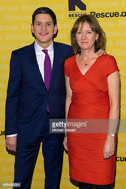 President and CEO David Miliband and Louise Shackelton attend the 2014 International Rescue Committee Freedom Award Benefit Event at The...